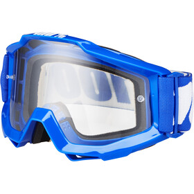 100% Accuri Anti Fog Clear Gafas enduro, reflex blue